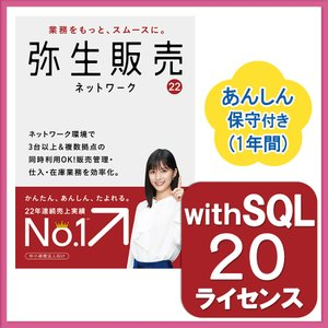 弥生販売18ネットワーク20ライセンスwithSQL あんしん保守サポート付き ※ご注文後、要申請書提出※要サーバー機商品(HMAL1401+500531)|pcoffice