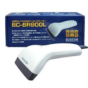 ビジコム CCDバーコードリーダーBC-BR900L USBタイプ(ホワイト)1年保証・日本語マニュアルあり|pcpos2