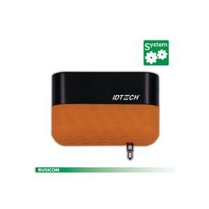 IDTECH iOS/Android 対応 2トラック モバイル磁気カードリーダー(イヤフォンジャック接続) Shuttle オレンジ|pcpos2