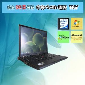訳あり人気中古小型ノート IBM THINKPAD X60s 1702 CoreDuo L2300 1.5GHz/2GB/40GB/Win7|pctky