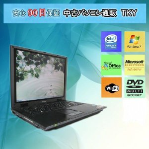 中古パソコン中古 ノートパソコン  中古パソコン  EPSON NT7100Pro PentiumM/1GB/80GB/マルチ/無線/Win7|pctky