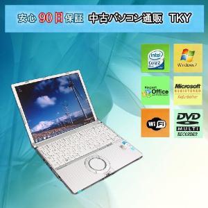 中古 ノートパソコン  中古パソコン PANASONIC CF-W5 Core2Duo/1GB/160GB/無線/マルチ/Windows7|pctky
