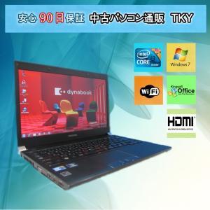 中古 ノートパソコン  中古パソコン TOSHIBA R730/B Core i3/4GB/250GB/無線/Windows7|pctky