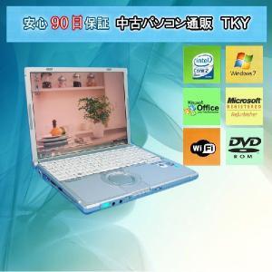【中古パソコン】中古ノートPC PANASONICCF-W7DW3AAS Core2Duo/2GB/120GB/無線/ドライブ/Win7|pctky