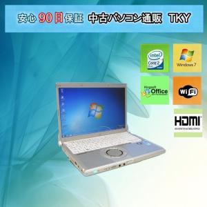 中古 パソコン 中古ノートパソコン PANASONIC CF-N8 Core2Duo/4GB/250GB/無線/Win7|pctky