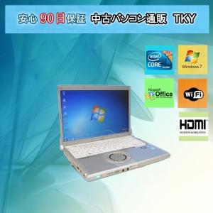 中古 ノートパソコン  中古パソコン PANASONIC CF-N9 Core i3 /2GB/160GB/無線/Win7|pctky