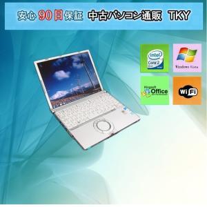 中古 ノートパソコン  中古パソコン PANASONIC Let's note CF-T5/Core2Duo/1.5GB/80GB/WindowsVista|pctky
