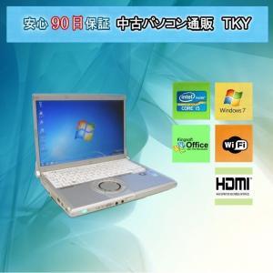 中古パソコン 中古ノートパソコン PANASONIC Let's NOTE CF-N9 Corei5/4GB/250GB(DtoD)/無線LAN内蔵/Windows7|pctky