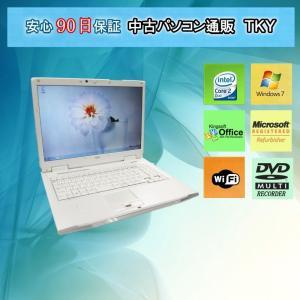 中古 ノートパソコン  中古パソコン FUJITSUNF/A70 Core2Duo/2GB/160GB/Win7/マルチ/無線|pctky