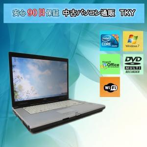 中古パソコン 中古ノートパソコン  FUJITSU FMV-E780/B Corei3 /2GB/160GB(DtoD)/外付け無線LAN/マルチ/Windows7 pctky
