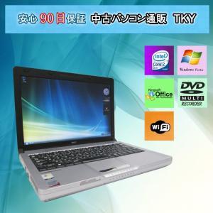 中古 ノートパソコン  中古パソコン NEC VM-6 Core2Duo/2GB/80GB/マルチ/無線/Vista pctky