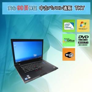 中古 ノートパソコン  中古パソコンIBM/lenovo L520 Celeron/4GB/320GB/無線/マルチ/Windows7|pctky