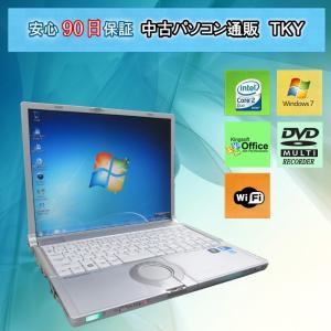 中古 ノートパソコン  中古パソコン PANASONIC CF-Y9 Core2Duo/2GB/250GB/無線/マルチ/Win7|pctky
