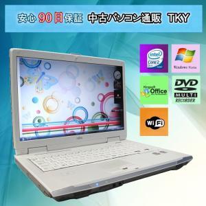テンキ−付き FUJITSU FMV-BIBLO NF/A70 Core2Duo T8100 2.10GHz/2GB/160GB(DtoD)/無線/DVDマルチ/WindowsVista|pctky