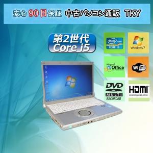 中古パソコン 中古ノートパソコン  第2世代 Core i5搭載 PANASONIC Let's NOTE CF-S10 4GB/320GB/無線/DVDマルチ/Windows7|pctky