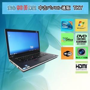 中古パソコン 中古ノートパソコン  Webカメラ付き IBM/lenovo ThinkPad Edge 15 Core i3 /4GB/250GB/無線/マルチ/Windows7|pctky