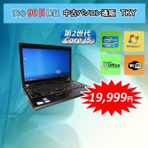 中古パソコン 中古ノートパソコン 第2世代 Core i5 lenovo/IBM ThinkPad X220 2GB/250GB/無線/Windows7|pctky