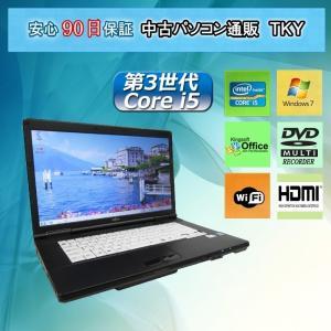 中古 ノートパソコン  中古パソコン 第3世代 Core i5  FUJITSU  A572/E /4GB/320GB/無線/DVDマルチ/Windows7 pctky