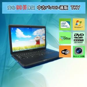 中古パソコン 中古ノートパソコン テンキー付き Webカメラ付き lenovo G550 Celeron/4GB/160GB/無線/マルチ/Windows7|pctky