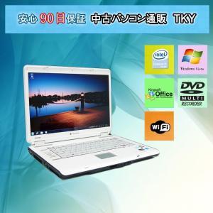 中古 パソコン 中古ノートパソコン TOSHIBA  TX/66A CeleronM/1GB/100GB/DVDマルチ/無線/WindowsVista|pctky