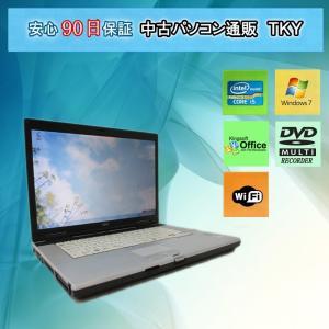 中古パソコン 中古ノートパソコン 11n新品無線LANアダプタ付き・FUJITSU FMV-E780/A Corei5 /4GB/160GB(DtoD)/マルチ/Windows7 pctky