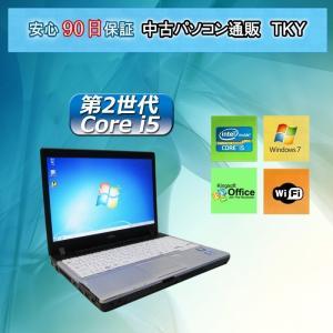 中古パソコン 中古ノートパソコン 訳あり・第2世代 Core i5搭載 FUJITSU FMV-P771/C 4GB/160GB/無線/Windows7|pctky