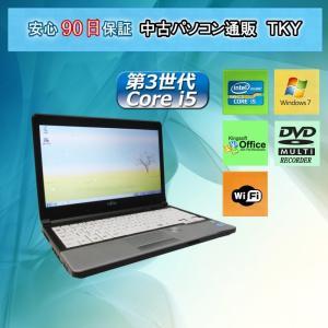 中古パソコン 中古ノートパソコン 第3世代 Core i5 Webカメラ搭載 FUJITSU LIFEBOOK S762/E/4GB/250GB/Windows7|pctky