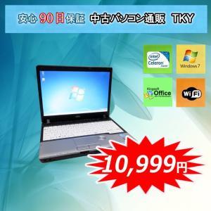 中古パソコン 中古ノートパソコン 訳ありFUJITSU FMV-P772/F Intel Celeron /2GB/250GB/無線/Windows7|pctky