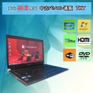 中古 ノートパソコン  中古パソコン 第2世代 Core i5  TOSHIBA  R731/C Core i5/2GB/250GB/無線/Windows7|pctky