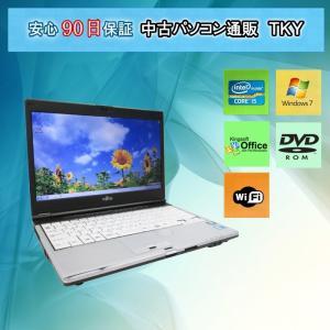 中古パソコン 中古ノートパソコン FUJITSU LIFEBOOK S560/B Intel Core i5 /4GB/160GB(DtoD)/無線LAN内蔵/DVDドライブ/Windows7 pctky