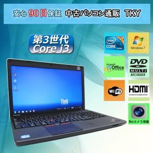中古パソコン 中古ノートパソコン テンキー付き Webカメラ搭載 IBM/lenovo ThinkPad Edge E530c 4GB/ 320GB/無線LAN内蔵/マルチ/Windows7|pctky