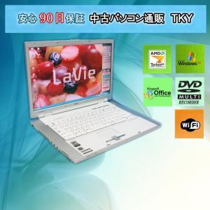 中古 ノートパソコン  中古パソコン NEC LL550/G AMD Sempron/1GB/80GB/無線/DVDマルチ/WindowsXP pctky