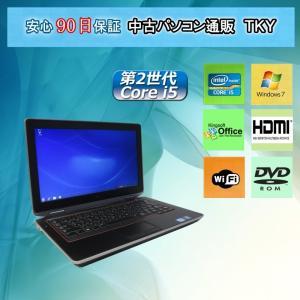 中古 ノートパソコン  中古パソコン 訳あり 第2世代 Core i5搭載 DELL E6320/3GB/80GB/無線/DVDドライブ/Windows7|pctky