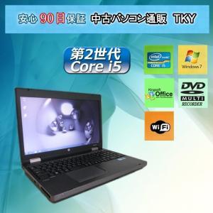 中古パソコン 中古ノートパソコン 第2世代 Core i5搭載 HP ProBook 6560b 4GB/250GB/外付け無線/マルチブ/Windows7|pctky