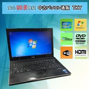 限定一台 中古パソコン 中古ノートパソコン Core i5搭載 EPSON Endeavor NY2100S Core i5 /4GB/320GB/無線/マルチ/Windows7|pctky