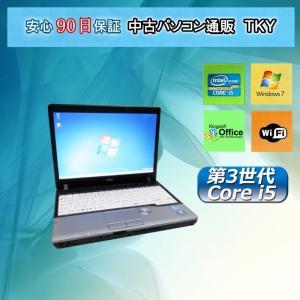 訳あり・中古パソコン 中古ノートパソコン 第3世代 Core i5 【 FUJITSU FMV-P772/E  4GB/250GB/無線/Windows7|pctky