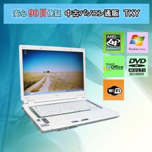 中古 ノートパソコン  中古パソコン NEC  LL370/R AMD Athlon64 x 2/2GB/80GB/DVDマルチ/無線/WindowsVista|pctky