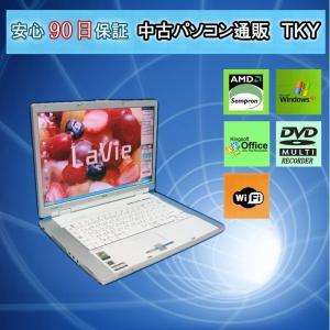 中古 ノートパソコン  中古パソコン NEC Lavie LL590/G AMD Sempron/1GB/ 80GB/DVDマルチ/無線/WindowsXP|pctky