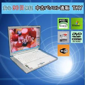中古 ノートパソコン  中古パソコン NEC LL550/G AMD Sempron/1GB/80GB/DVDマルチ/無線/WindowsXP pctky