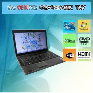 中古パソコン 中古ノートパソコン テンキー付き Core i3搭載  EPSON  NJ3350/2GB/160GB/DVDドライブ/無線/Windows7|pctky