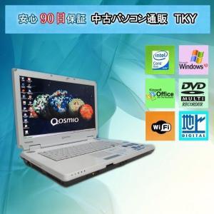 地上テレビ付き中古 ノートパソコン  中古パソコン TOSHIBA F30/795LS CoreDuo/2GB/120GB/マルチ/無線/WinXP|pctky