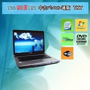 中古 ノートパソコン  中古パソコン新品無線 TOSHIBAT43 Core2Duo/2GB/160GB/DVDマルチ/Windows7|pctky