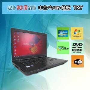 中古 パソコン 中古ノートパソコン TOSHIBA  B550/B/ Core i5/3GB/250GB/無線/DVDマルチ/Windows7|pctky