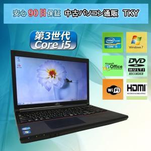 中古パソコン 中古ノートパソコン 第3世代 Core i5 プロセッサー テンキー付き FUJITSU LIFEBOOK A573/G 4GB/320GB/無線/マルチ/Windows7|pctky
