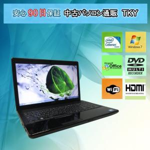中古パソコン 中古ノートパソコン テンキー付き 11n新品無線LANアダプタ EPSON Endeavor NJ3300 Intel Celeron /2GB/160GB/マルチ/Windows7|pctky