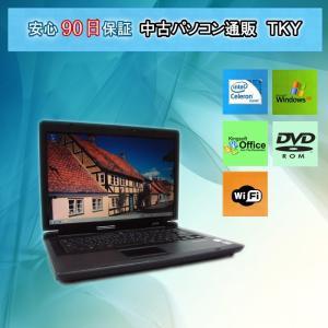 11n対応無線アダプタ付き 中古 ノートパソコン  中古パソコン EPSON Endeavor NJ2100 Celeron 550/1GB/80GB/WinXP|pctky