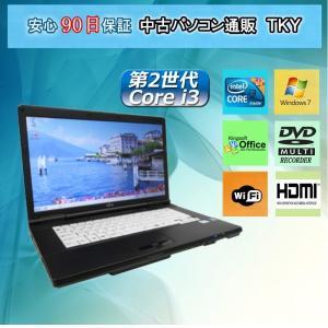 中古 ノートパソコン  中古パソコン 第2世代 Core i3  FUJITSU  A572/E /4GB/250GB/無線/DVDマルチド/Windows7 pctky