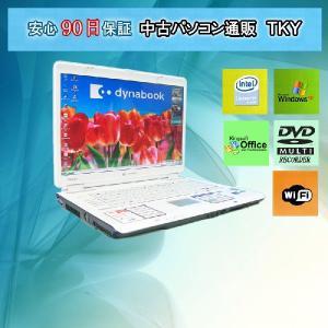 中古 ノートパソコン  中古パソコン TOSHIBA TX/860LS CeleronM/1GB/100GB/DVDマルチ/無線/WindowsXP|pctky