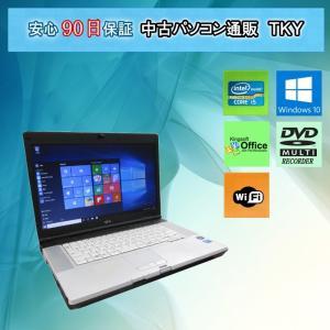 パソコン 中古ノートパソコン MAR Windows10 FUJITSU FMV-E780/A Core i5 /4GB/160GB(DtoD)/無線/マルチ/Windows10 pctky
