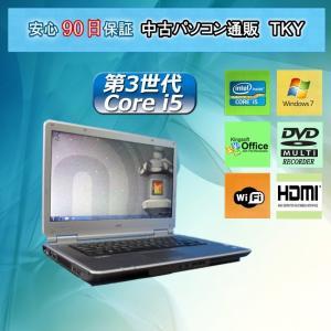 中古パソコン 中古ノートパソコン 第3世代 Core i5搭載 新品無線アダプタ付き NEC VersaPro VD-F 4GB/320GB/マルチ/Windows7|pctky